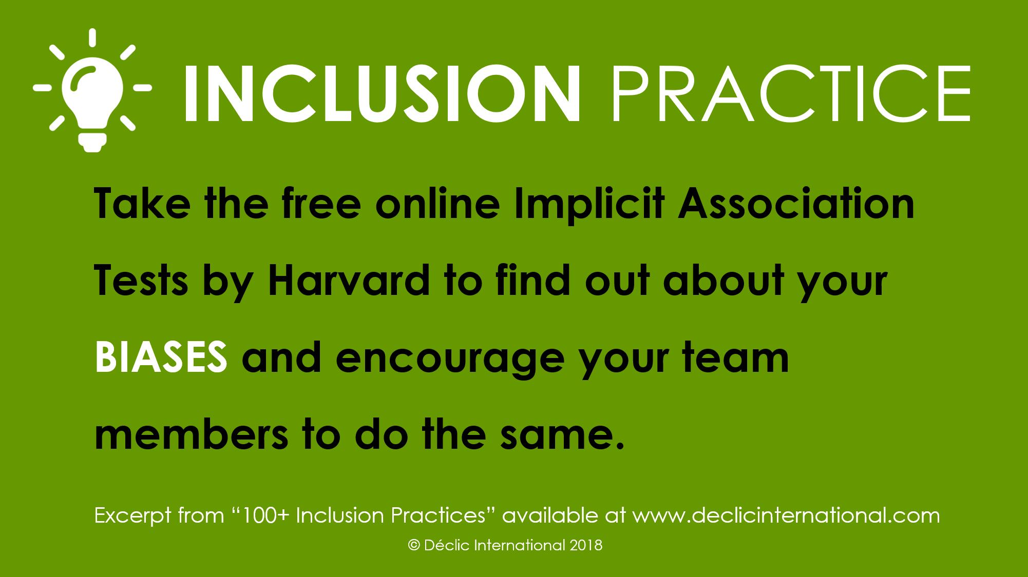 Inclusion Practice - Take the implicit association test - Déclic